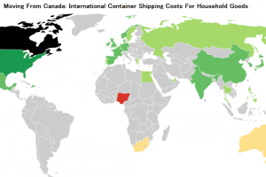 2018 Overseas Cargo & Freight Costs From Canada