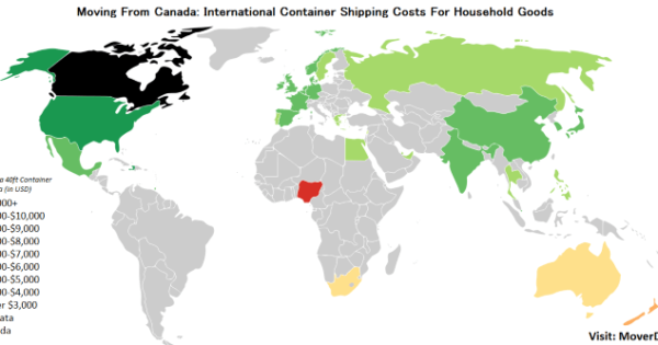 2019 Overseas Cargo & Freight Costs From Canada – MoverDB com