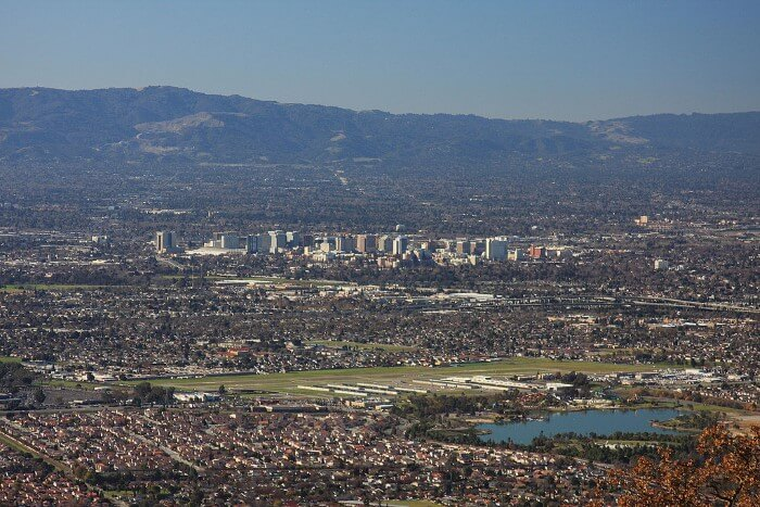 San Jose and Silicon Valley California Skyline