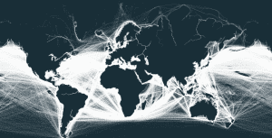 The Outlines of Continents Can Be Visualized By Shipping Routes