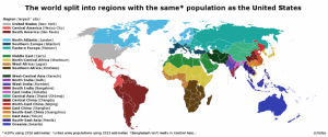 World Regions With The Same Population As The United States