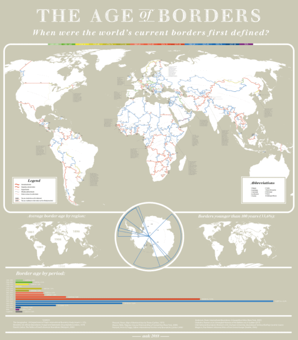 Stunning Map Showing The Age Of The World S Borders Moverdb Com